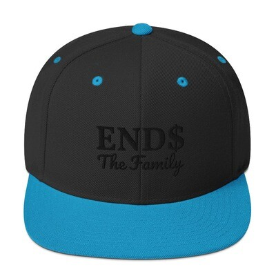 ENDS The Family Snapback Black Stitch Hat