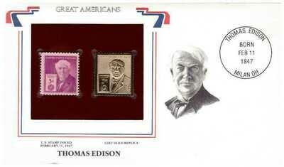 Thomas Edison, Timbre y réplica 22 k