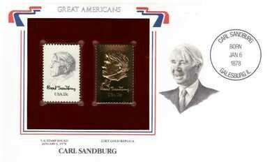 Carl Sanburg, Timbre y réplica 22 k
