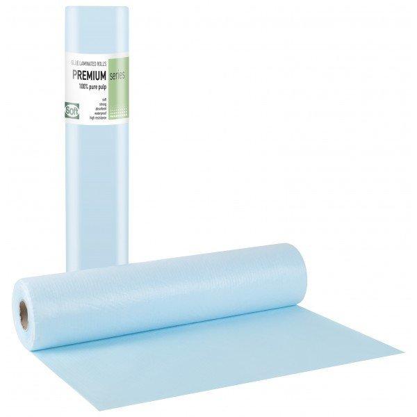 Πλαστικό+χαρτί κόλλα μπλε 68εκ x 50μ. (12 τεμάχια)