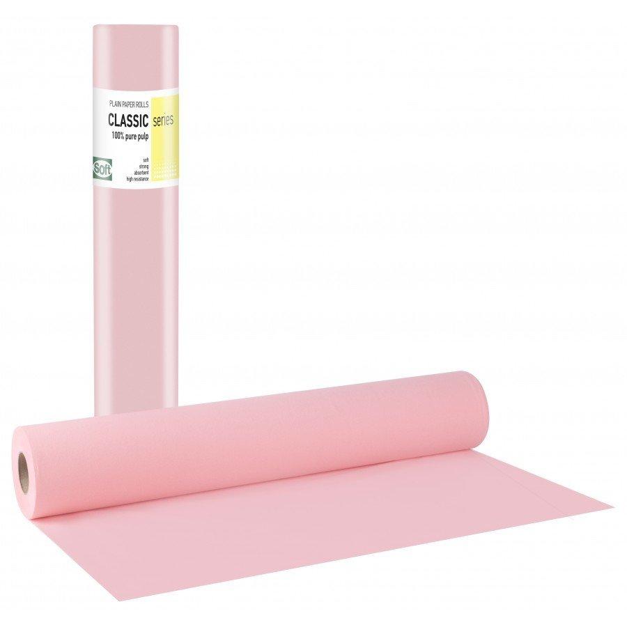 Χάρτινο δίφυλλο 68εκ x 50μ. ροζ (12 τεμάχια)