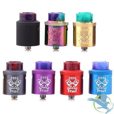 HELLVAPE DEAD RABBIT 24MM RDA WITH SQUONK PIN AND RESIN TIP