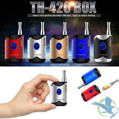 LEAF BUDDY TH-420 MINI BOX VARIABLE VOLTAGE 650MAH BOX MOD WITH 0.5ML CCELL CE3 CARTRIDGE