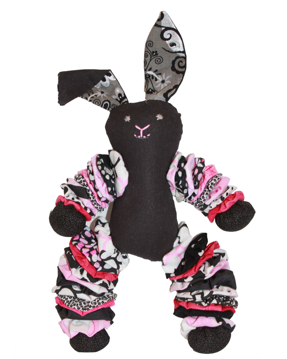 Black Plush Bunnies (Girl)