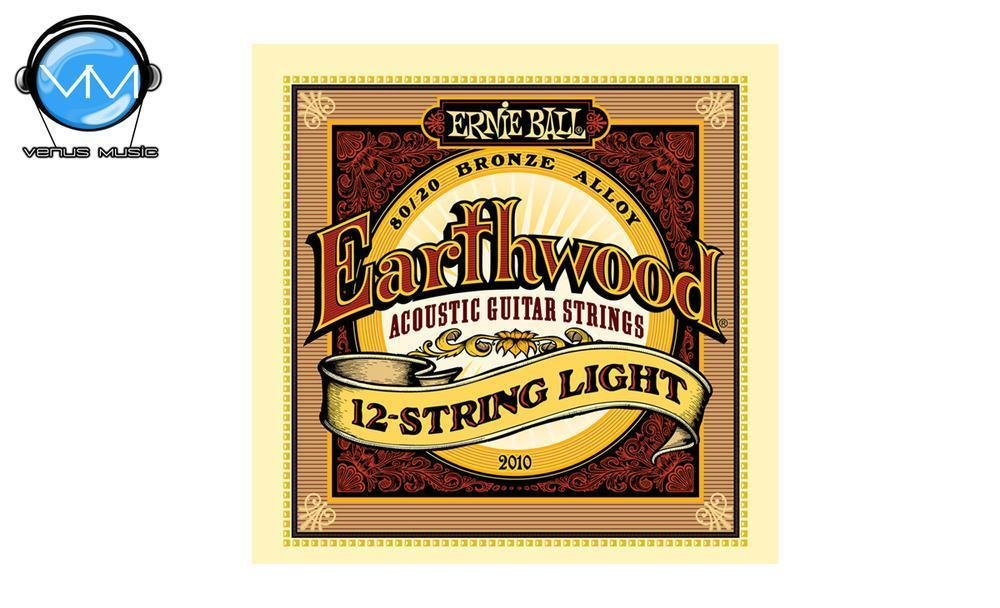 Ernie Ball 2010 Earthwood Encordadura Guit. Acust. 12 Cdas.