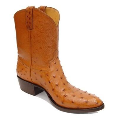 Ostrich Boots Vamps Short Tops