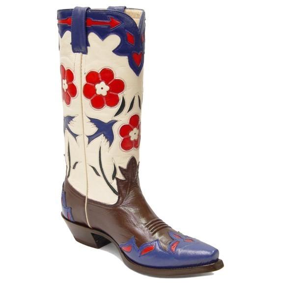 Bluebird Classic Retro Vintage Boots Chocolate & Bone