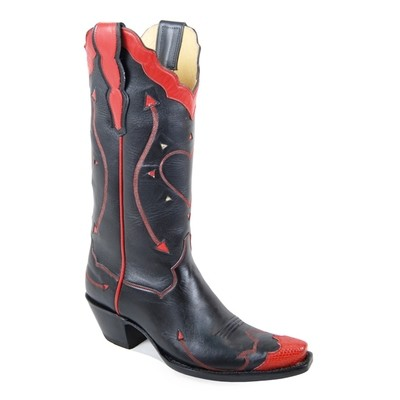 Margarita Fancy Boots Black & Red Boots