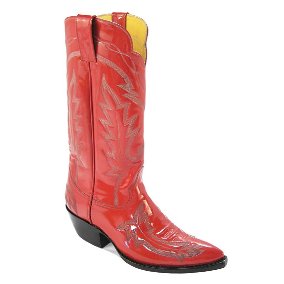 Lipstick Boots Red Patent
