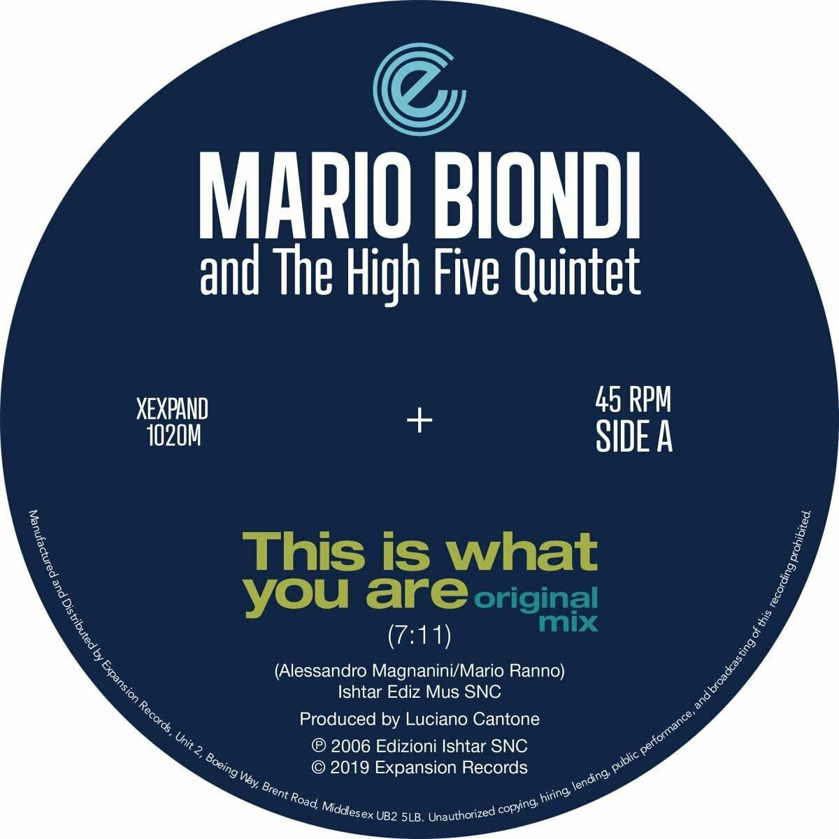 Mario Biondi & The High Five Quintet (12-inch)