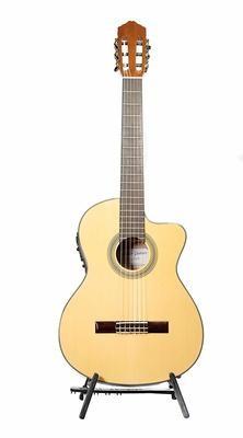 Calido CG 21CE - Acoustic Electric Cutaway - Nylon String Guitar with Crossrock Gig Bag