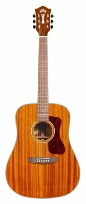 Guild D-120 - Dreadnought Steel String Acoustic Guitar - Solid Mahogany top, back, sides - Natural finish