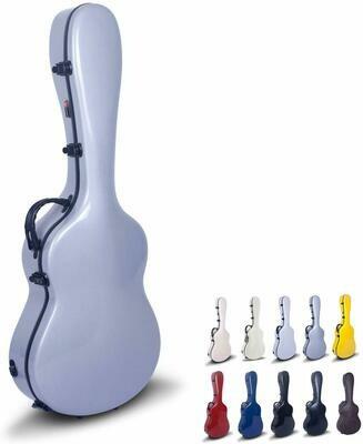 Crossrock CRF1000CSLV - Fiberglass Hardshell Classical Guitar Case - Silver