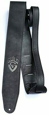 Guild Leather Guitar Strap, BL Leather Guitar Strap - Black