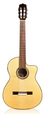 Cordoba Fusion 12 Natural - Solid European Spruce Top - Acoustic Electric Nylon String Classical Guitar