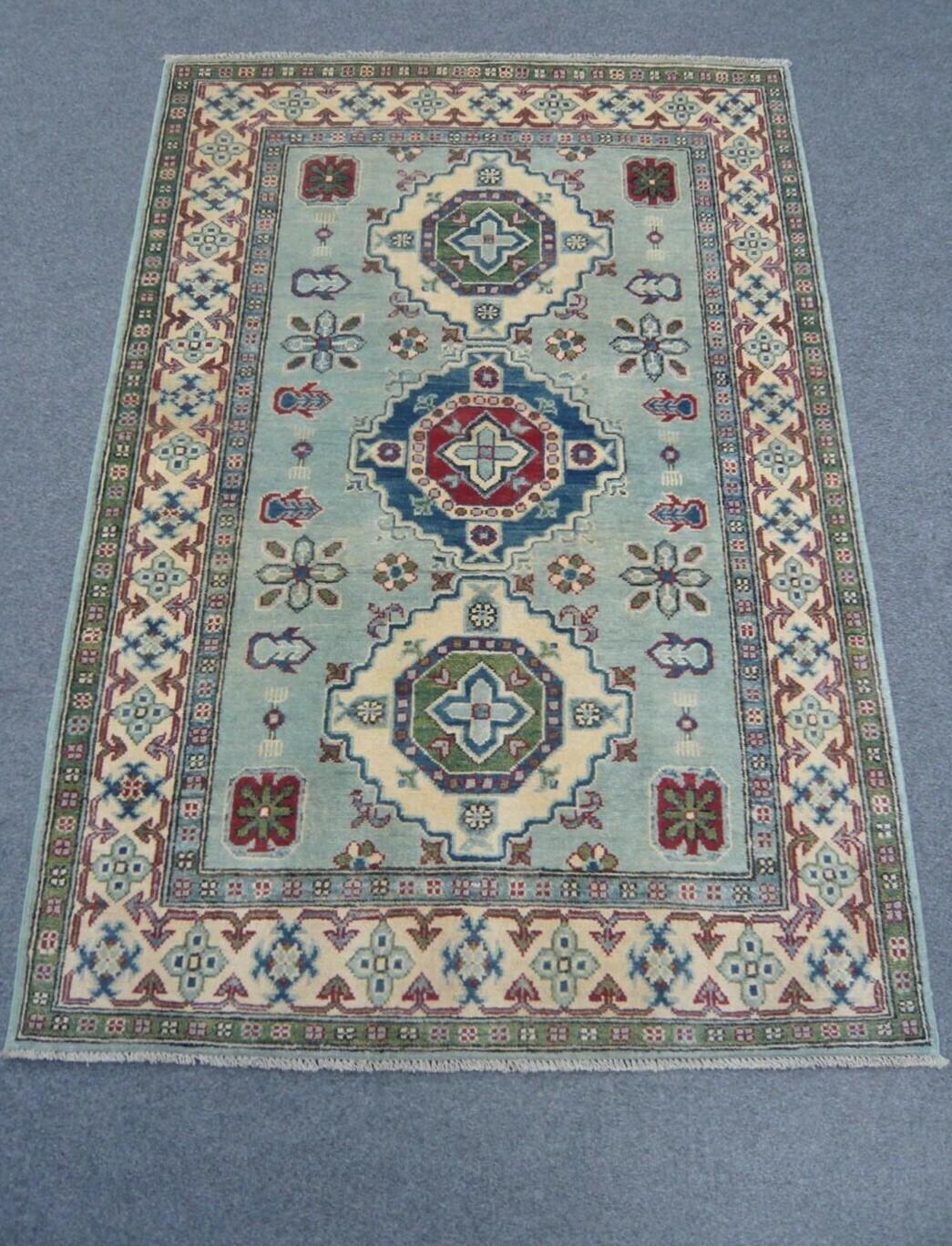 Afghan Rug Pale Green Sold.