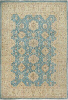 Fine Afghan Natural Dyed Rug Blue
