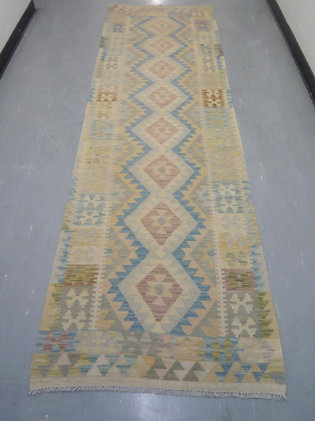 Natural Dyed Kilim Runner 9'9