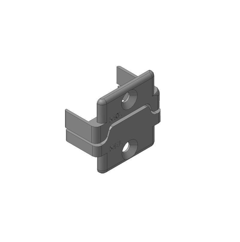 Заглушки алюминиевых П-профилей створки калиток секционных ворот (Петли слева, права)