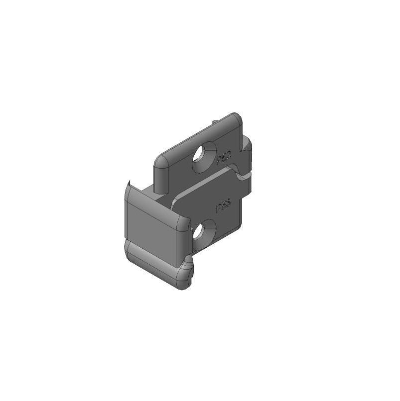 Заглушки алюминиевых Ц-профилей для проема калитки (правая, левая сторона)