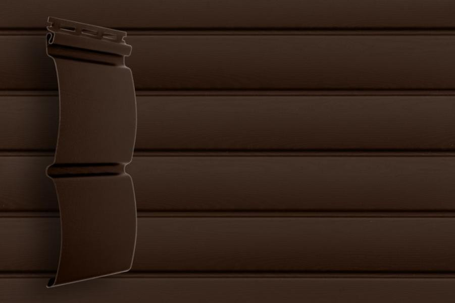 САЙДИНГ Премьер одностороннее покрытия RAL клен светлый, кедр темный.