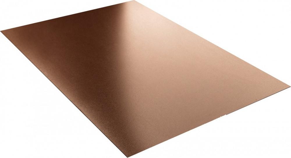 Гладкий лист стандарт полиэстер двухстороннее 0,45 мм цвет по каталогу RAL 1015, 3005, 5002, 6005, 7024, 8017, 903.