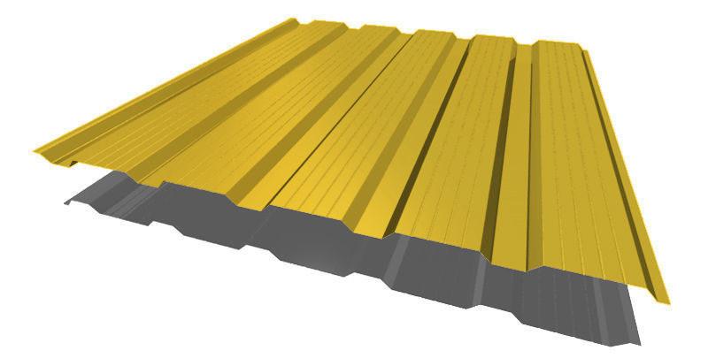 Профнастил НС - 21' стандарт полиэстер одностороннее 0,50 мм цвет  3005, 6005, 8017.