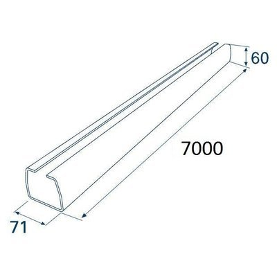 Балка прокатная х/к 71х60х3,5 7000мм