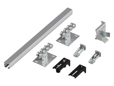 Система роликов и направляющих для балки 60х55х3