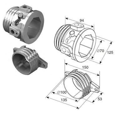 Окончание пружин для октагонального вала RV 70