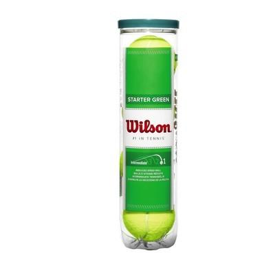 Wilson Green Starter Tennis Balls - 4 Ball Tube
