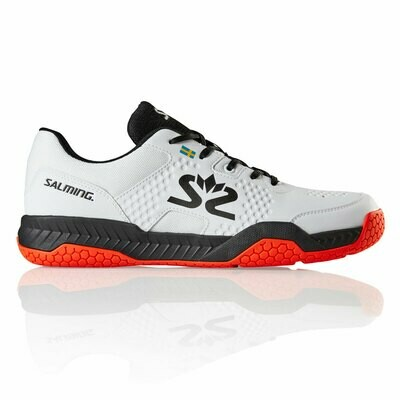Salming Hawk Court - White/Black/Flame Red