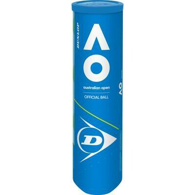 Dunlop Australian Open Tennis Balls - 4 Ball Can