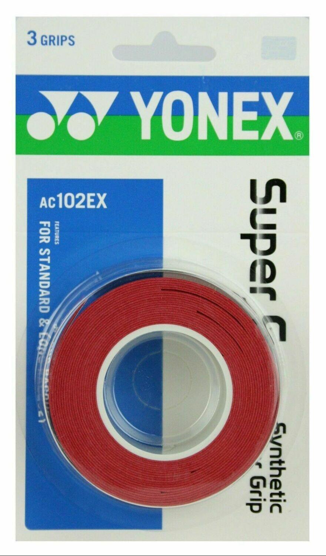 Yonex Super Grap - 3 Pack - Red