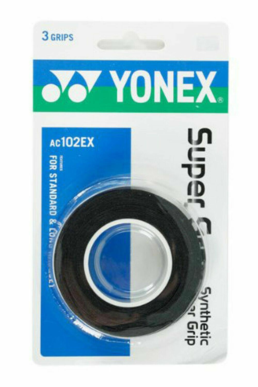 Yonex Super Grap - 3 Pack - Black