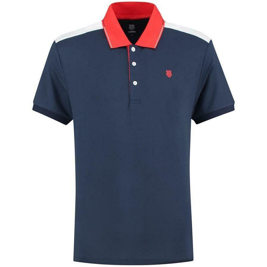 K-Swiss Heritage Sport Polo - Navy Blue