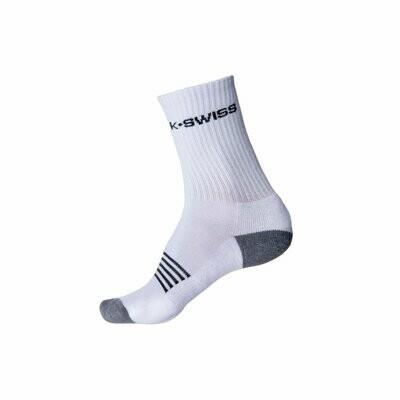 K-Swiss Mens Sports Socks 3 Pack - White