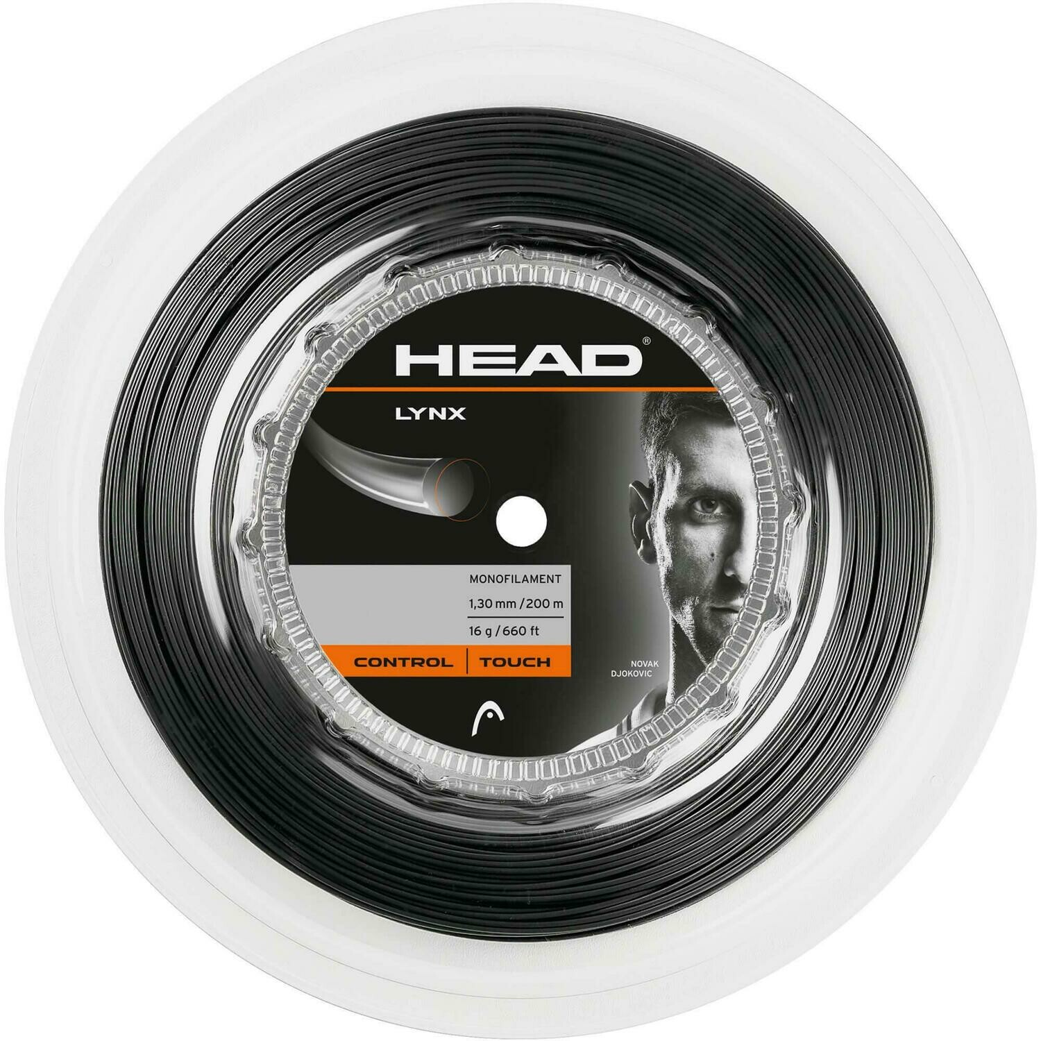 Head Lynx 200m Reel Tennis String - Anthracite