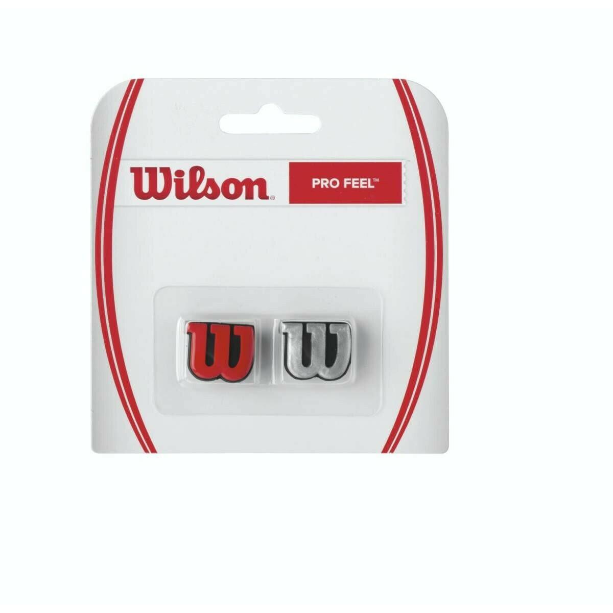 Wilson Pro Feel Dampener 2 Pack - Red/Silver