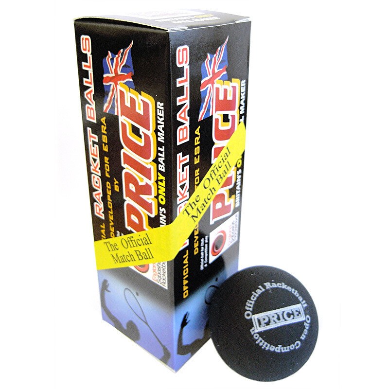 Price Racketballs Black - 3 Pack