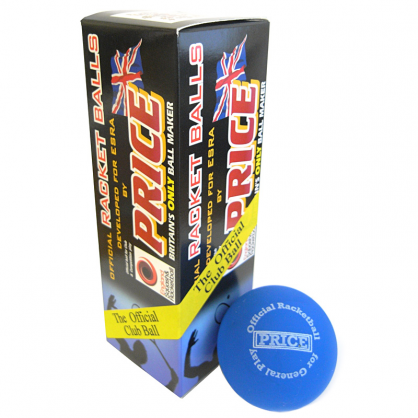 Price Racketballs Blue - 3 Pack