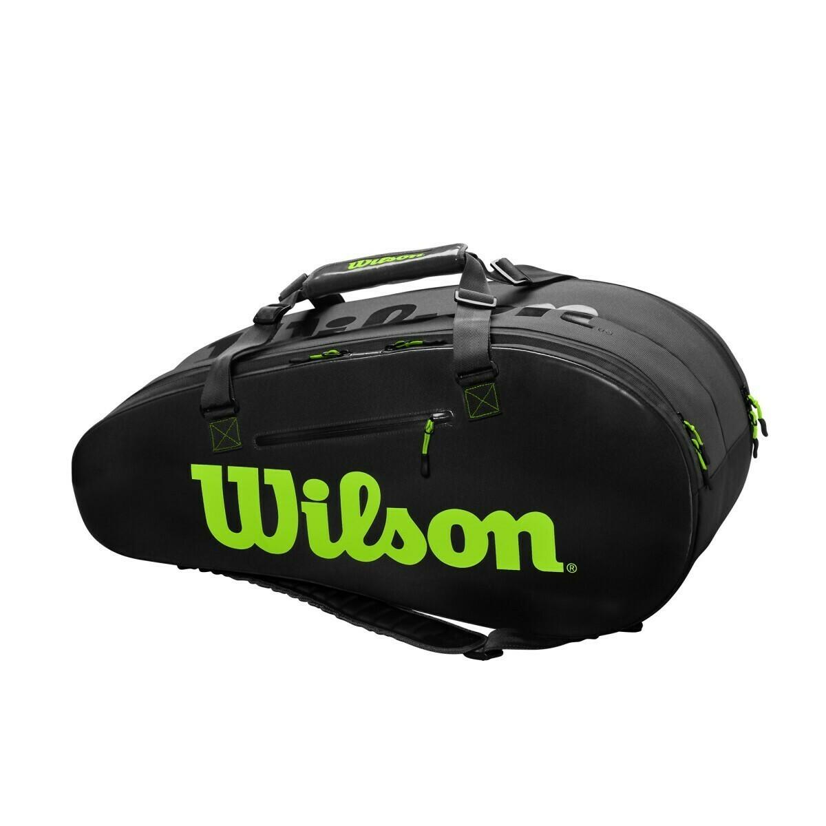 Wilson Super Tour 2 Comp Large Bag - Charcoal/Green