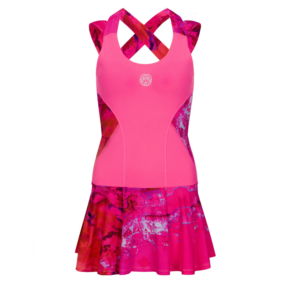 Lipa Tech Dress (2 in 1) - Pink/Red