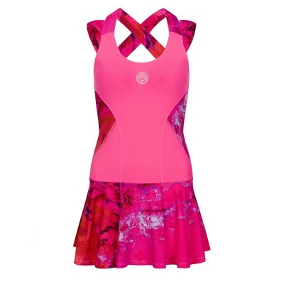 Lipa Tech Dress (2 in 1) - Pink/Red