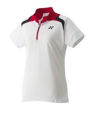 Yonex Womens Polo Shirt - White/Red