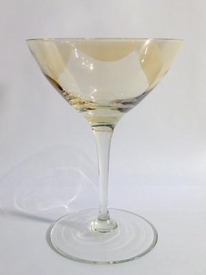 Coupe, Amber Bowl, Mid-Century Modern 7 oz