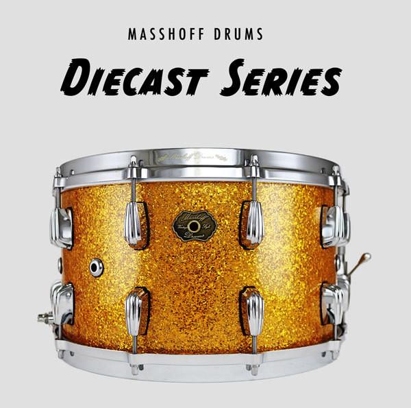 """Masshoff Drums 14""""x 08"""" Premium Stahl Snare Drum """"Big Chief Steel / Gold Sparkle"""""""