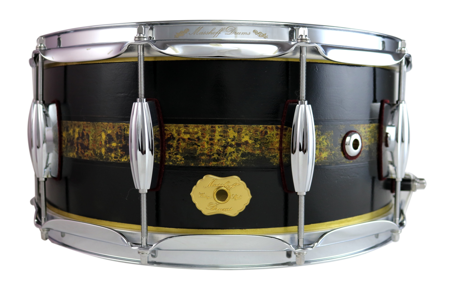 """Masshoff Drums 14""""x 6.5"""" Messing Snare Drum """"Avalon Brass / Duco King"""""""