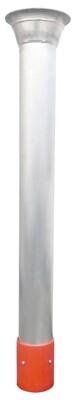 "Dura Tube™ Welded Aluminum 8"" to 6"" Reducer Flange / Orange Plastic Hydro Cuff"