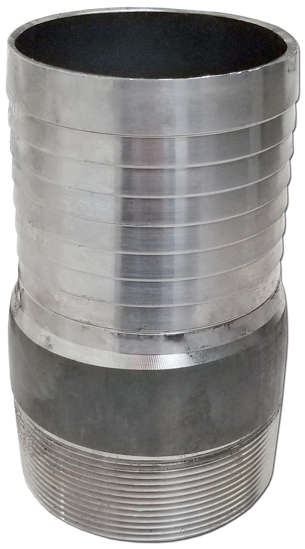 Steel Hose Barb to MNPT Nipple Adapter